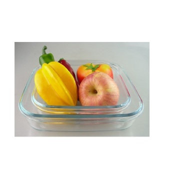 Square Glass Baking Pan for Microwave Oven