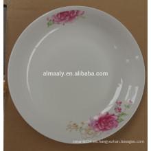 plato de fruta de cerámica / placa de tarta de cerámica barata