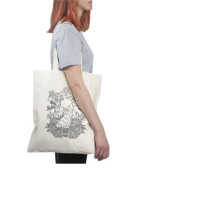 Tote canvas bag design with printing pattern