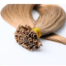 Double drawn extensão virgem russa Pre-Bonded dropship yaki reta u cabelo ponta