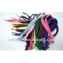 Cordones planos de lujo coloridos calientes
