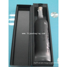 High Quality Clamshell Wine Paper Box with Shoulder and EVA Foam