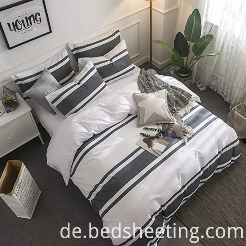 Cotton Percale Yarn Dyed Duvet Cover