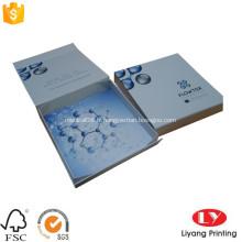 Boîte de carton d'emballage cosmétique de cadeau de pliage