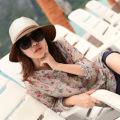 2015 new Fashion Women Casual Beach Topee Sunbonet Straw Hat