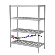 TS267 SS304 4 capas de acero inoxidable estante de la tienda de comestibles