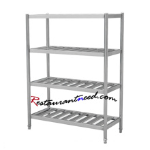TS267 SS304 4 Layers Stainless Steel Grocery Store Shelf