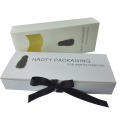 Hair Extension With Ribbon White Cardboard Box
