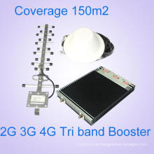 Unterstützung 2g 3G 4G Lt Mobile Network Booster 900 1800 2600 Signal Repeater Tri Band Signal Booster
