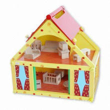 Baby's Playhouse, Composed of Some Wooden Doll House Furniture