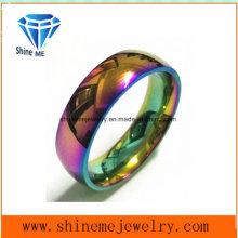 Shineme Joyería Duzzle Colores Anillo de joyería de acero inoxidable (CZR2769)