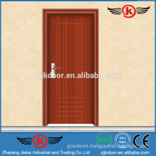 JK-P9025 china supplier wooden composite door design pvc bathroom plastic door/kitchen door