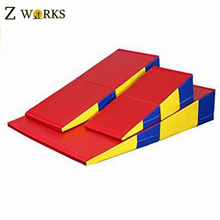 Folding Gymnastics Incline Mat Large Cheese Wedge Ramp Skill Shape Triangle Tumbling Mats