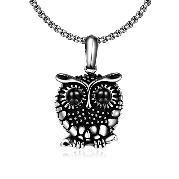 Hot Sale 316L Steel Necklace Owl Shape Pendant Necklace Fashion Jewelry