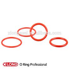 Rojo claro de alto grado de color de silicona o-ring