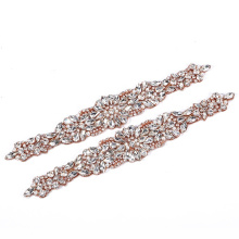 Rhinestone diamond  decoration and  applique motifs for wedding dress RH927