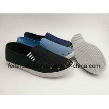 Плоские ботинки Холстины женщин с самой последней конструкцией, скольжения на Повседневная обувь