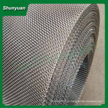 Malha de arame crimped de aço inoxidável de alta temperatura