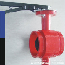 Cast Steel Grooved Type Butterfly Valve