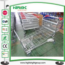 Supermercado Metal Platform Warehouse Cargo Trolley
