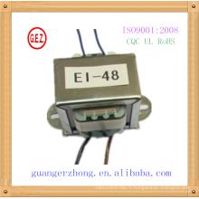 Top vente faible fréquence EI48 transformer 220v ac 24v 830ma