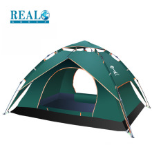 Wholesale high quality folding double layers 3-4 peoples family camping tent for outdoor activities