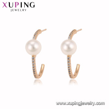 94941 новая мода 18k золотой цвет жемчуг обруч серьги благородный стильный ювелирные изделия для дамы