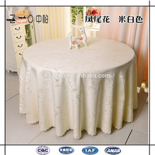 """100% Polyester Durable Best Selling Jacquard-Stoff 120 """"Runde Tischdecke"""