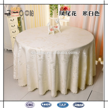 """100% poliéster durável mais vendidos tecido jacquard 120 """"toalha de mesa redonda"""