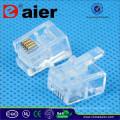 Daier Telephone Plug RJ11 Jack 4P4C Plug