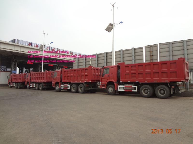 Red 18m3 Dump Truck Howo7 5