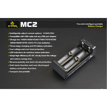 Alta Qualidade Original Xtar Mc2 Charger Mc1 / Vc2 / Vc4 para 18650 Baterias