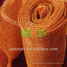 Hebei anping cobre rojo tejido malla de alambre