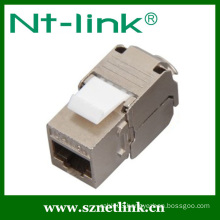 Tooless type cat6a stp rj45 keystone jack