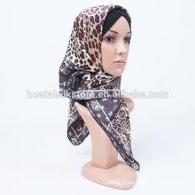 Chemisier musulman imprimé en soie pure de la nouvelle conception 2014