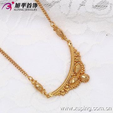 Xuping Мода 18k Золото Цвет Роскошная Бабочка Геральдическое Ожерелье (42486)