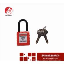 Bloqueo de seguridad BAODI BDS-S8611 Candado no conductivo Candado Bloqueo ABS
