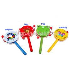 Hölzerne Übergebung Baby Toy Drum