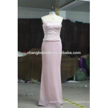 Élégance Demi-manche Robe plissée violet foncé de la robe de mariée