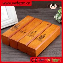 conceptions de boîte de crayon de table de multiplication en bois bon marché