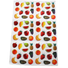 enfants qui jouent fruits autocollants de porte carte PVC