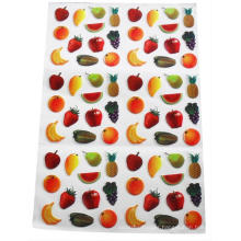 kids playing fruit PVC card door stickers