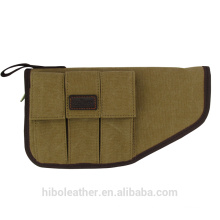 Canvas and leather Gun Holster
