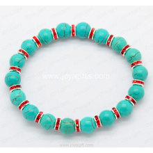China Supplier Jewelry Turquoise Bracelet with Red diamon ring