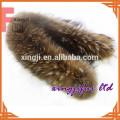 cuello de piel de mapache con capucha de piel de mapache color natural con forro para chaqueta