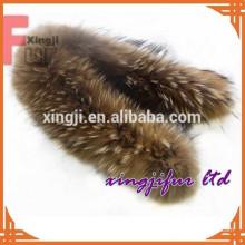 хорошее качество китайский натуральный или крашеный Енот цвет кожи реальный мех енота для отделки капюшона