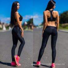 Pantalon de remise en forme noir Yoga Sport Gym Leggings 3027