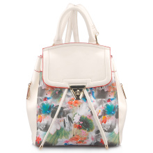 Sacola de mochila de couro PU de moda elegante de impressão (LY05042)
