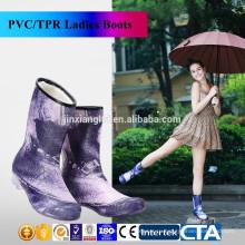 JX-995BE Новые модные сапоги дождя Экологические последние дизайн дамы модные сапоги дождь