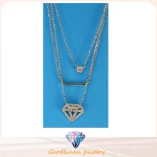 Collar pendiente N6777 del diseño especial de la joyería de la manera de la venta caliente de la joyería de la plata esterlina de la manera